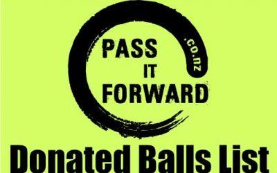 DONATED BALLS LIST
